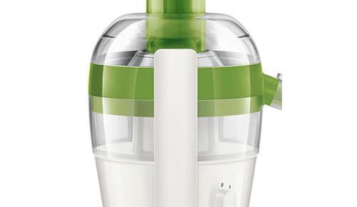 Surveillance du niveau de pulpe facile grâce au réservoir à pulpe transparent
