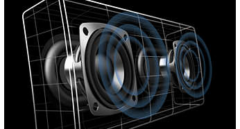 Kvalitetselement som ger ett naturligt ljud med djup bas