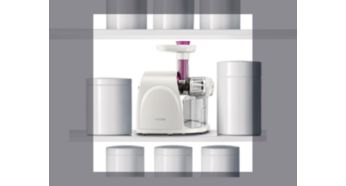 Compact design for storage - Philips Viva Collection Slow Juicer
