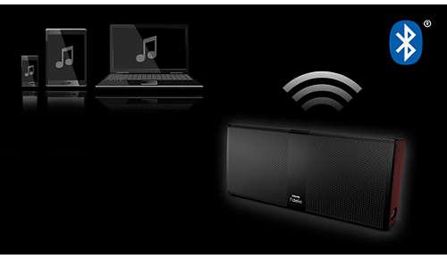 Draadloos muziek streamen via Bluetooth