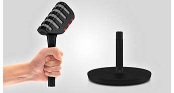 使用无线可分离式麦克风,可以随处移动