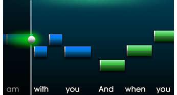 Zing het ritme perfect mee met songteksten op het scherm