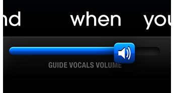Grazie alla guida vocale puoi cantare facilmente una canzone