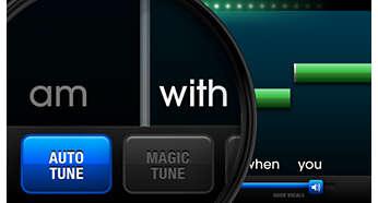 使用 Auto-Tune®,始终找准正确的音符