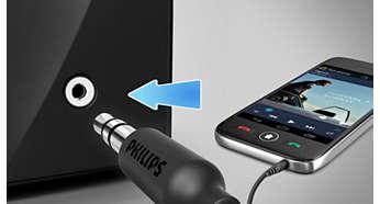 Zvukový vstup na prehrávanie hudby z prenosných zariadení