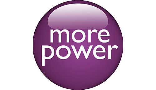 Plus de puissance, pour des résultats plus rapides