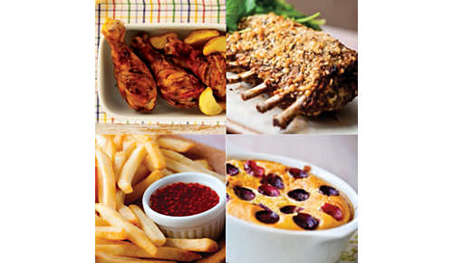 Met de Airfryer kunt u frituren, grillen, bakken en braden