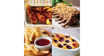 С помощью мультипечи можно жарить, готовить блюда на гриле, в панировке, выпечку и даже запекать с аппетитной хрустящей корочкой