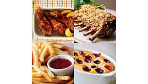 健康氣炸鍋具備油炸、燒烤、烘烤,甚至烘焙效果