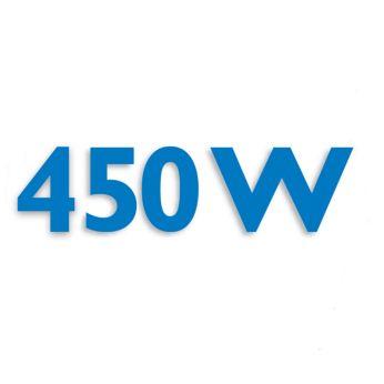 Powerful 450 W motor