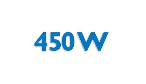 Krachtige motor van 450 W