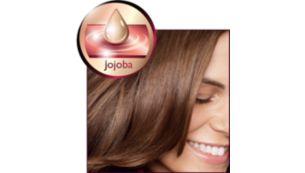Maximum shine with Jojoba oil infused ceramic plates