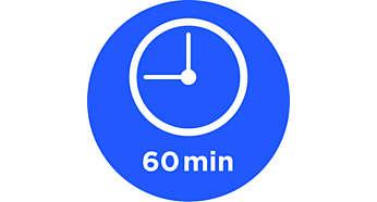 Timer de 60 minutos com luz indicadora para alimento pronto e desligamento automático