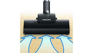Turbo-borstelmondstuk voor een grondigere reiniging van uw tapijt