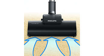Turbo Brush nozzle for more thorough cleaning of your carpet