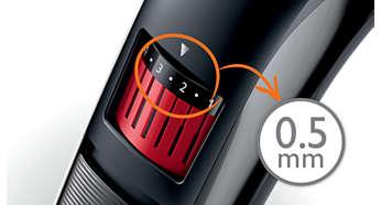 Längdinställningar från 0,5 mm till 10 mm