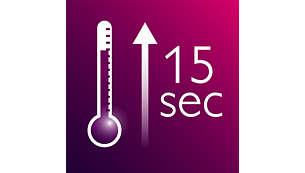 Calentamiento instantáneo en 15 segundos