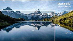 Crystalclear images with Quad HD 2560 x 1440 pixels