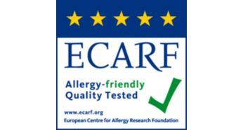 Знак качества ECARF за проверенную эффективность