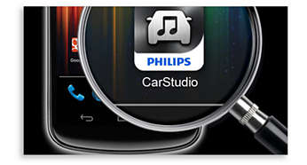 Free Philips CarStudio app for control of what you play