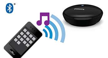 Strumieniowe przesyłanie internetowych aplikacji muzycznych ze smartfona lub tabletu do zestawu Hi-Fi
