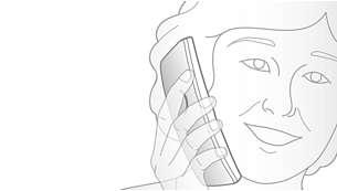 Ricevitore con design sagomato per effettuare chiamate in modo comodo