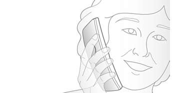 Contoured handset design for in call comfort