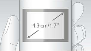 """Écran couleur TFT à contraste élevé 4,3cm (1,7"""")"""