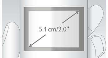 """Visor TFT a cores de alto contraste de 5,1cm (2"""")"""