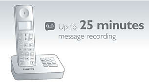Up to 25 minutes of messages on your answering machine
