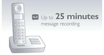 Maximaal 25 minuten voor berichten op uw antwoordapparaat