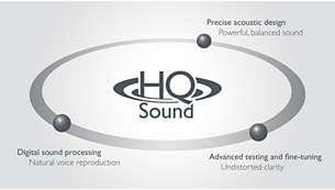 HQ-Sound: Hochwertige Akustik für einen erstklassigen Sound