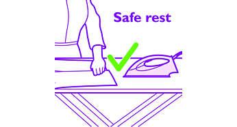 Sicherer Abstellplatz für Ihr Bügeleisen mit Optimal TEMP-Technologie