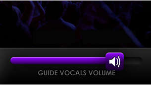 Pick up a song easily with guiding vocals