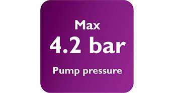 Pression de pompe maxi. 4,2bars