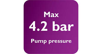 Μέγιστη πίεση αντλίας 4,2 bar