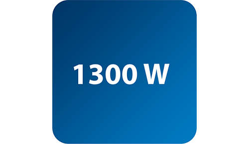 1300 W for powerful steam