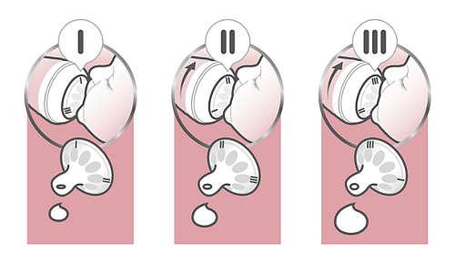 Einstellen der Durchflussmenge für angenehmes Trinken des Babys