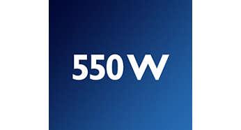 Motor potente de 550W para preparar receitas de bolo