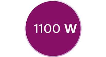 1100 vatų galia užtikrina pastovų galingą garo srautą