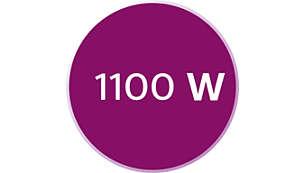 1100 瓦可維持強力蒸氣輸出
