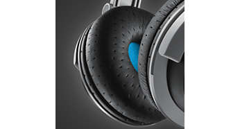 Breathable ear cushions for longer listening comfort