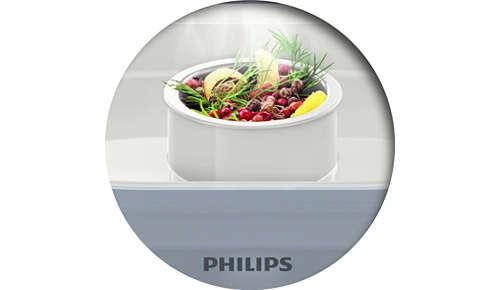 Le diffuseur d'arôme ajoute un délicieux goût d'herbes aromatiques et d'épices