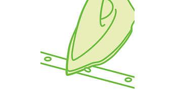 단추와 솔기를 따라 빠르게 다림질할 수 있는 단추용 홈