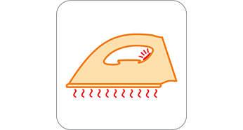 A luz da temperatura indica quando o ferro está suficientemente quente