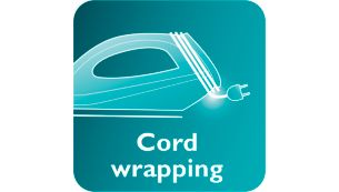 Philips Diva Dry Iron Cord winder for easy cord storage