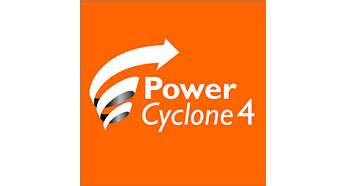 La technologie PowerCyclone4 sépare la poussière de l'air en une seule étape