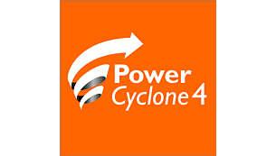 La tecnología PowerCyclone 4 separa el polvo y el aire de una pasada