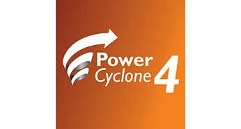 Technológia PowerCyclone 4 naraz oddeľuje prach a vzduch