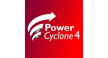 Die PowerCyclone4-Technologie trennt Staub und Luft in einem Durchgang.